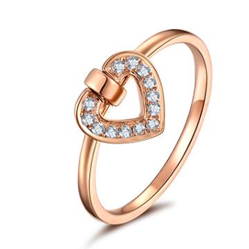 美億珠宝心形戒指