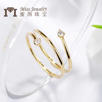 蜜饰珠宝K金时尚钻石戒指