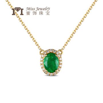 蜜饰珠宝18K金时尚宝石项链