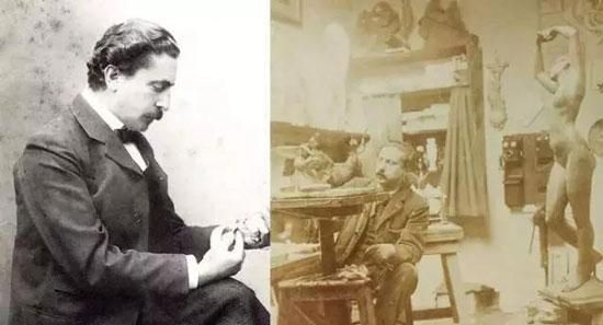 Philippe Wolfers肖像照1905年。Philippe Wolfers在创作中