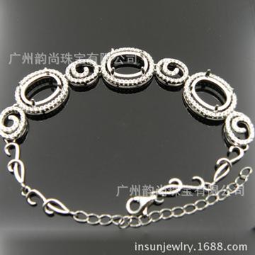 韵尚珠宝时尚银饰手链托