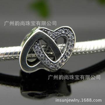 韵尚珠宝心心相印多功能银饰手链