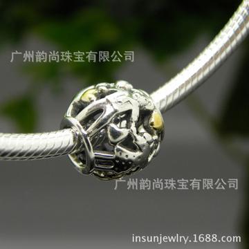 韵尚珠宝新款快乐儿童天地纯银骨链