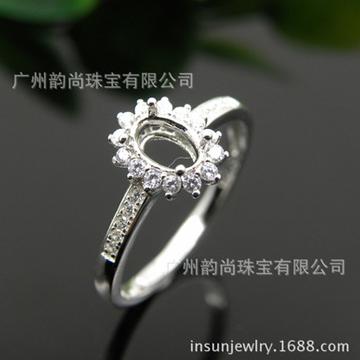 韵尚珠宝新式精致时尚小戒面戒指银