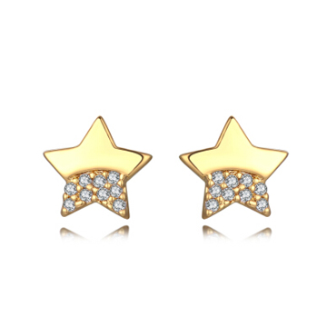 HERSTORY五角星镶钻耳钉