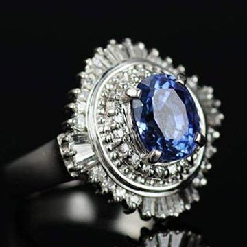 中玉世纪蓝宝石戒指