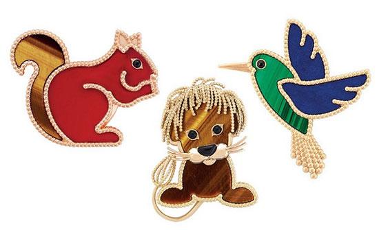 设计师用童趣画的笔触描绘出松鼠,刺猬,狮子,蜂鸟,猫头鹰等动物姿态