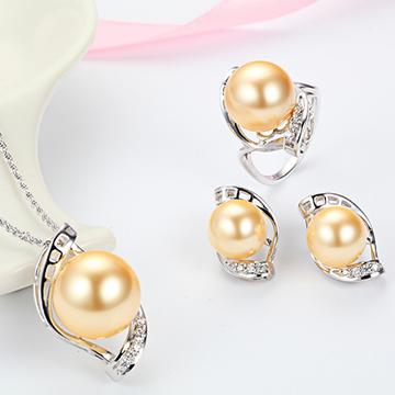 名兴首饰精美银饰项链戒指耳钉