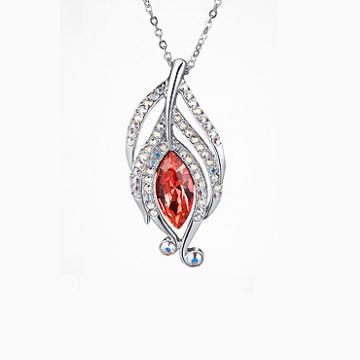 金七凤珠宝红宝石镶嵌吊坠
