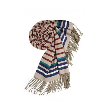 iciel巴黎天空几何横条长围巾