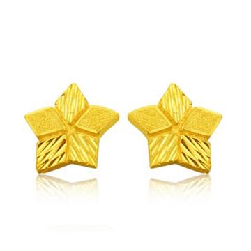 老银楼黄金星星耳钉