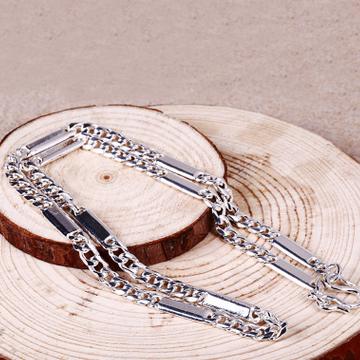 泰成银楼时尚男生粗款光面节排项链