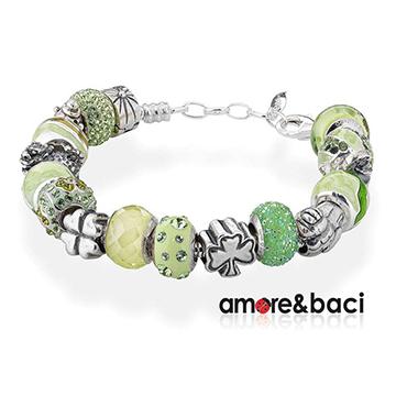 宝臣珠宝Amore-&-Baci时尚绿色珠子