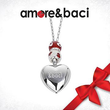 宝臣珠宝Amore-&-Baci心形银饰吊坠