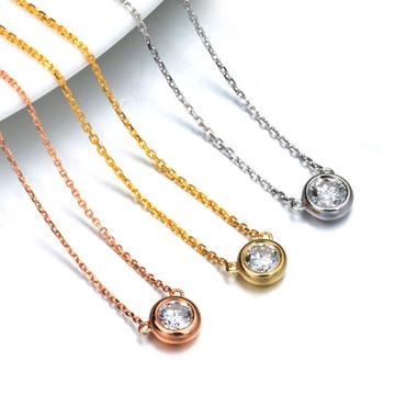 奢品女王珠宝18K黄金玫瑰金白金锁