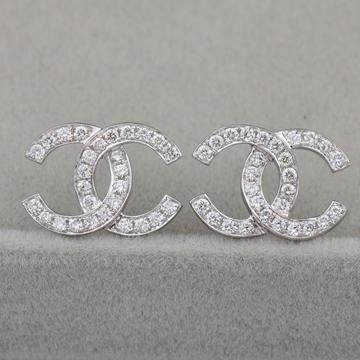 奢品女王珠宝18K黄金玫瑰金双C钻石