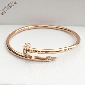 奢品女王珠宝18K金钉子钻石镶嵌手