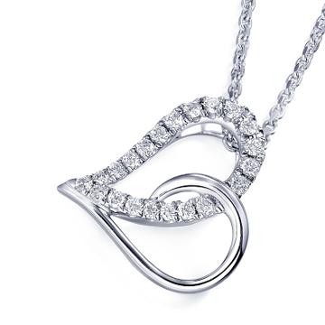 奢品女王珠宝18K心形钻石项链