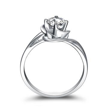 奢品女王珠宝白金18K钻石戒指