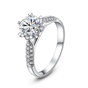 奢品女王珠宝镶碎钻戒托