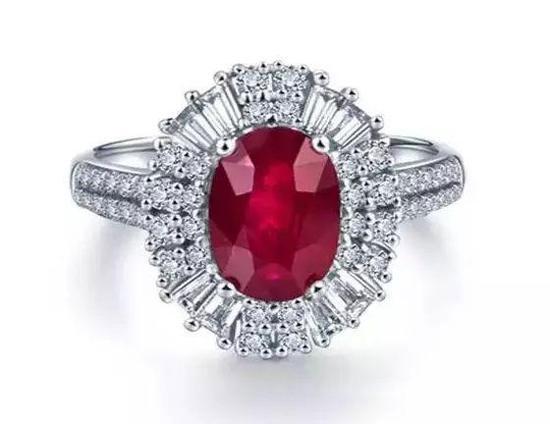 红宝石婚戒