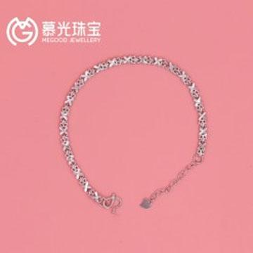 慕光珠宝银手链