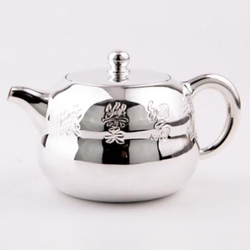 金银泰精致银茶壶