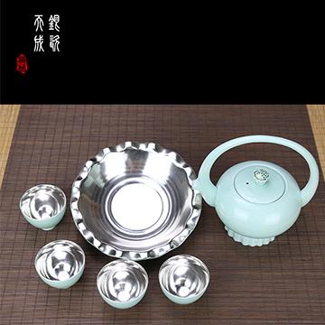 金银泰精致银茶具