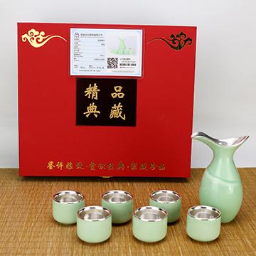 金银泰银瓷茶具