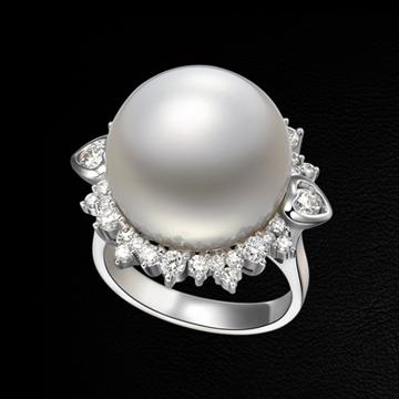 赫本珠宝奢华绚丽珍珠戒指