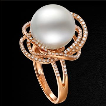 赫本珠宝南洋白珍珠戒指