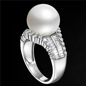 赫本珠宝瑰丽亮眼珍珠戒指