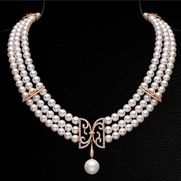 赫本珠宝宫廷复古珍珠项链