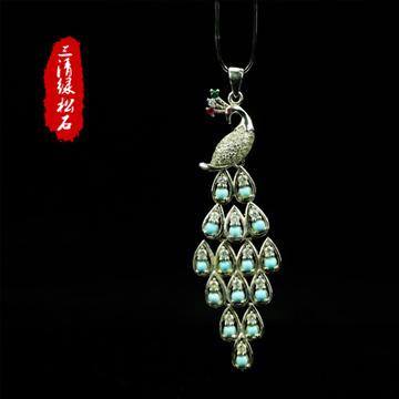 三清珠宝纯天然精品原矿高瓷绿松石