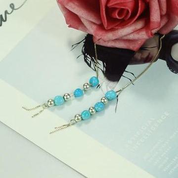 三清珠宝高瓷高蓝绿松石S925银镶嵌