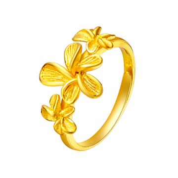 大唐金钻时尚花型黄金戒指