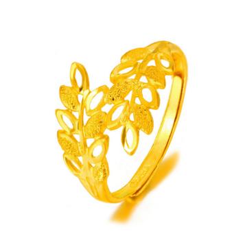 大唐金钻时尚树枝黄金戒指