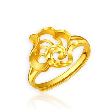 大唐金钻时尚造型黄金戒指