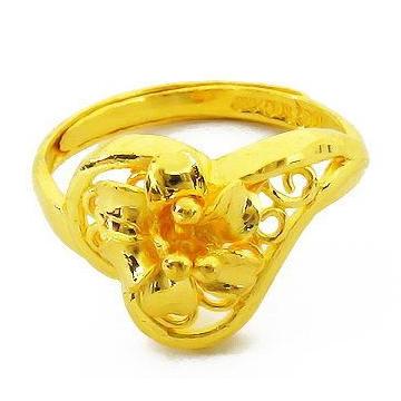 大唐金钻唯美造型黄金戒指