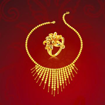 香港皇家珠宝黄金套链