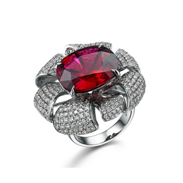 香港皇家珠宝红宝石戒指