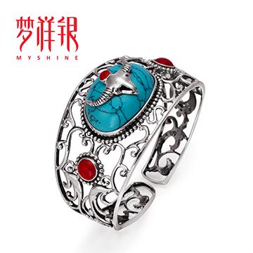 梦祥银民族银饰戒指