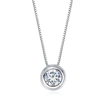 钻石小鸟18K金简约钻石挂坠