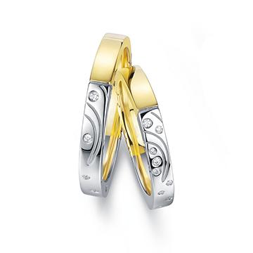 钻石小鸟爱河18K金时尚精美钻石对