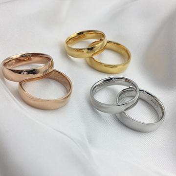弘宜珠宝时尚简约K金情侣戒指