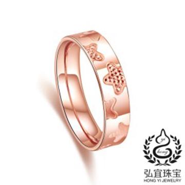 弘宜珠宝印花K金戒指