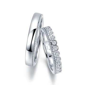 克拉之恋时尚钻石对戒