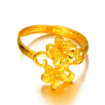 老金仓珠宝黄金戒指时尚戒指