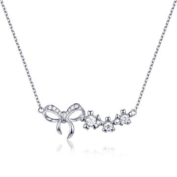 钻石码头蝴蝶结钻石项链