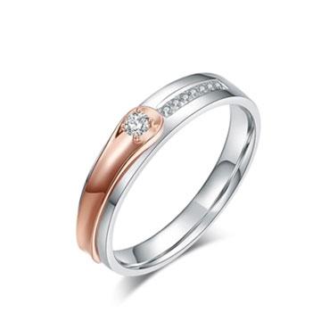莱洛姿18K金结婚钻石戒指